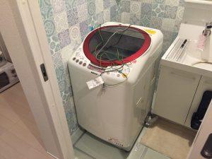 杉並区にて洗濯機の取り付け依頼を頂きました。