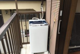 横浜市中区にて洗濯機の取り付け依頼を頂きました