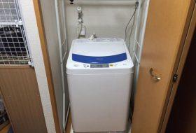 港区にて洗濯機の取り付け依頼を頂きました。