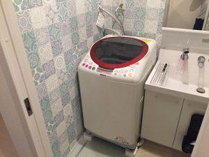 杉並区にて洗濯機の取り付け依頼を頂きました
