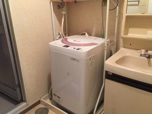 中央区にて洗濯機の取り付けの依頼を頂きました