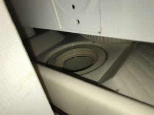 川崎市中原区で洗濯機排水口のつまりを修理してきました