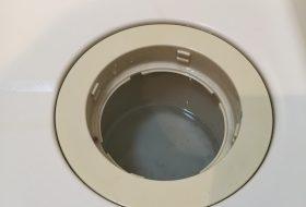 東京都江東区で洗濯機排水口のつまりを修理してきました